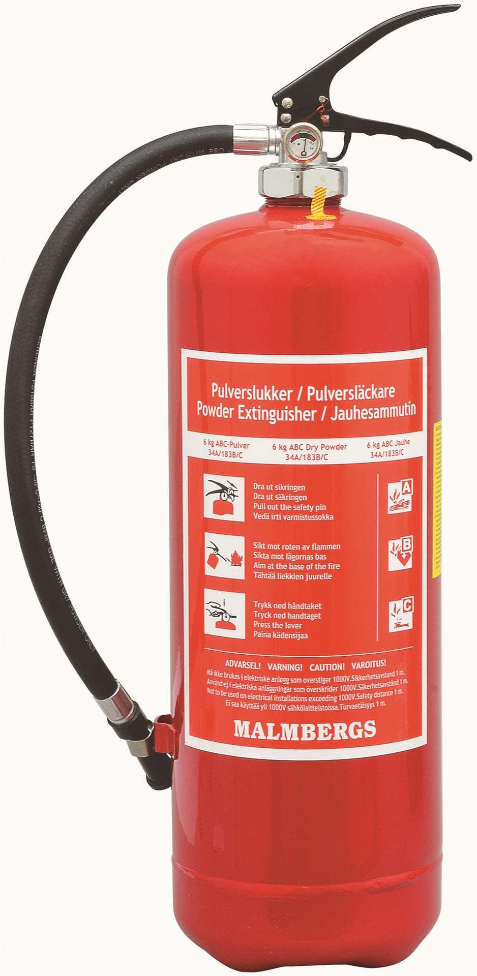 Malmbergs Brannslukker Pulver ABC 6KG (9994015)